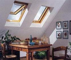 חלונות גג כמקור תאורה